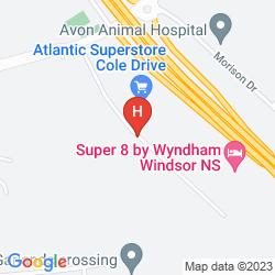 Mappa SUPER 8 WINDSOR