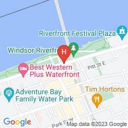 Mappa TRAVELODGE DOWNTOWN WINDSOR