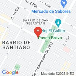 Mappa CITY EXPRESS PUEBLA