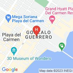 Mappa ALUX PLAYA DEL CARMEN