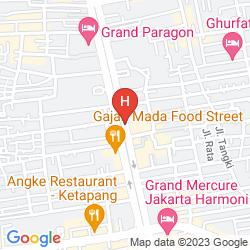 Mappa THE JAYAKARTA SP JAKARTA HOTEL & SPA