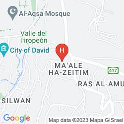 Mappa JERUSALEM PANORAMA HOTEL