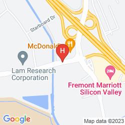 Mappa GOOD NITE INN FREMONT