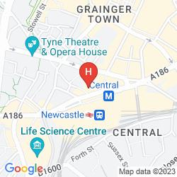Mappa COUNTY HOTEL NEWCASTLE