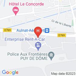 Mappa INTER HOTEL AEROPORT CLERMONT - FERRAND AULNAT