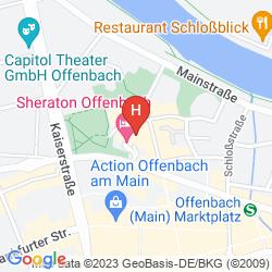 Mappa SHERATON OFFENBACH