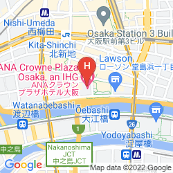 Mappa ANA CROWNE PLAZA OSAKA