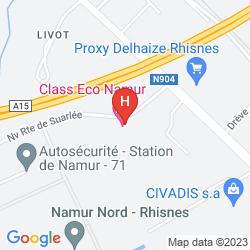 Mappa HOTEL CLASS'ECO NAMUR
