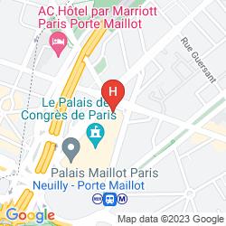 Mappa HYATT REGENCY PARIS ETOILE