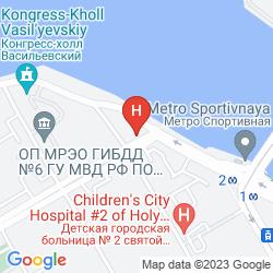 Mappa COURTYARD BY MARRIOTT ST. PETERSBURG VASILIEVSKY