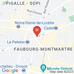Mappa BEST WESTERN PREMIER OPERA FAUBOURG