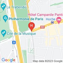 Mappa MERCURE PORTE DE PANTIN