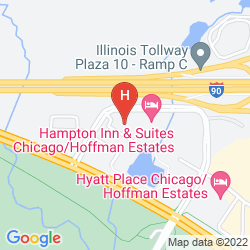 Mappa CANDLEWOOD SUITES CHICAGO-HOFFMAN ESTATES