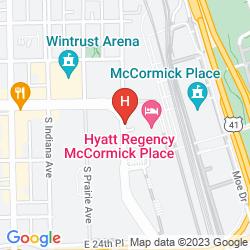 Mappa HYATT REGENCY MCCORMICK PLACE