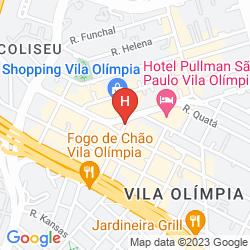 Mappa PULLMAN SAO PAULO VILA OLIMPIA