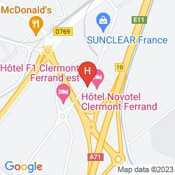 Mappa NOVOTEL CLERMONT FERRAND