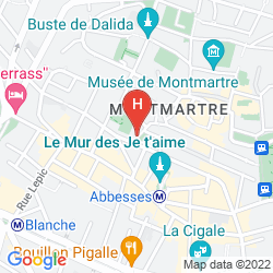 Mappa TIMHOTEL MONTMARTRE