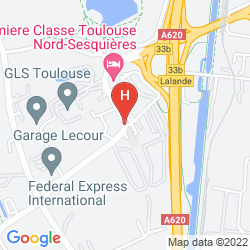 Mappa CAMPANILE TOULOUSE - SESQUIERES