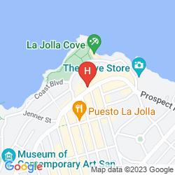 Mappa LA VALENCIA HOTEL