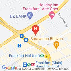 Mappa 25 HOURS HOTEL FRANKFURT TAILORED BY LEVI'S