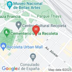 Mappa ULISES RECOLETA SUITES