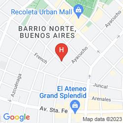 Mappa BLANK HOTEL RECOLETA