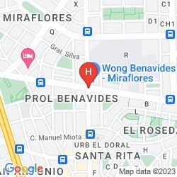 Mappa THUNDERBIRD HOTELS PRINCIPAL