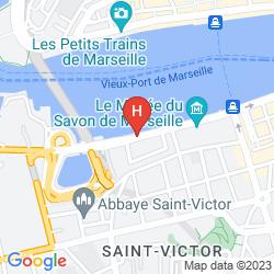 Mappa RADISSON BLU HOTEL, MARSEILLE VIEUX PORT