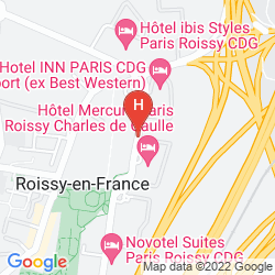 Mappa PARIS CHARLES DE GAULLE AIRPORT MARRIOTT