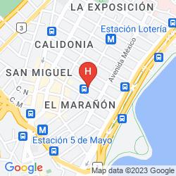 Mappa SEVILLA SUITES APART-HOTEL