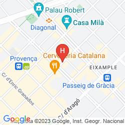 Mappa ALEXANDRA BARCELONA HOTEL, CURIO COLLECTION BY HILTON