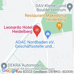 Mappa LEONARDO HOTEL HEIDELBERG