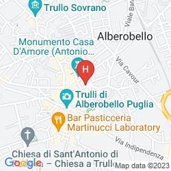 Mappa TRULLI HOLIDAY - ALBERGO DIFFUSO