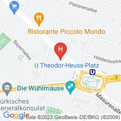 Mappa ASTER HOTEL AN DER MESSE
