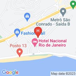 Mappa ROYAL TULIP RIO SAO CONRADO