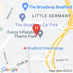 Mappa HOLIDAY INN EXPRESS BRADFORD CITY CENTRE