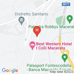 Mappa BEST WESTERN HOTEL I COLLI