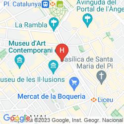 Mappa LE MERIDIEN BARCELONA