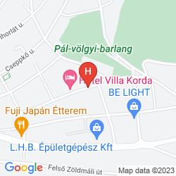 Mappa VILLA KORDA HOTEL
