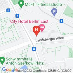 Mappa HOLIDAY INN BERLIN CITY EAST