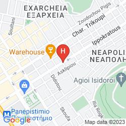 Mappa ATHENS WAY HOTEL & APARTMENTS
