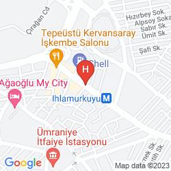 Mappa AGAOGLU MY CITY HOTEL