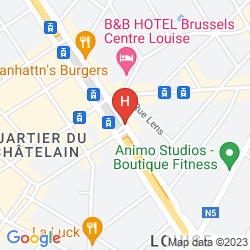 Mappa IBIS STYLES BRUSSELS LOUISE