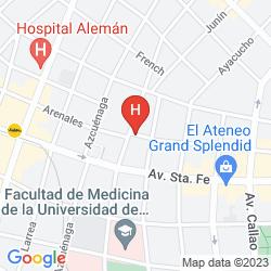 Mappa SUDAMERIKA HOSTEL & SUITES RECOLETA