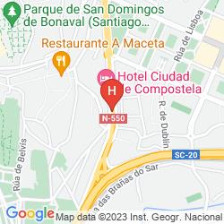 Mappa CIUDAD DE COMPOSTELA