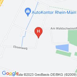 Mappa B&B HOTEL OFFENBACH