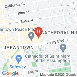 Mappa KABUKI - A JOIE DE VIVRE HOTEL