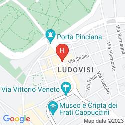 Mappa GRAND HOTEL VIA VENETO