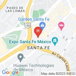 Mappa HOLIDAY INN EXPRESS MEXICO SANTA FE