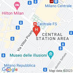 Mappa JUST HOTEL MILANO